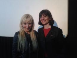 Natalia con Vicky Calavia tras estreno Aragón Rodado